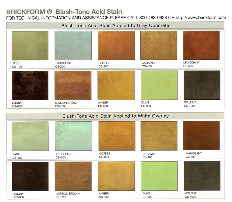 Brickform 169 Blush Tone Acid Stains