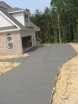New construction concrete services by bobby 39 s concrete for New concrete driveway