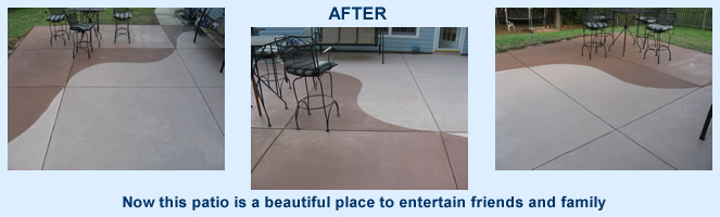 Patio Beautifully Restored With Concrete Stain